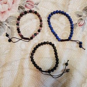 Adjustable Gemstone Bracelets